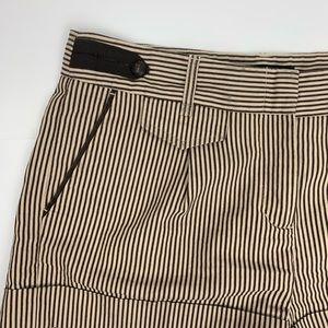 BCBGMaxAzria Shorts - BCBGMaxAzria Brown & Beige Striped Short Shorts 6